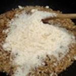Risotto aux coqs Ajouter le riz