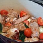 Blanquette de veau légère Ajouter les légumes