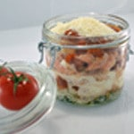Lasagnes saumon et oseille Cuire avec deux tomates