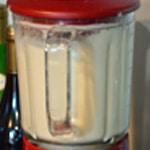 Crème d'asperges violettes Mixer au blender