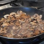 Filets de rougets en verrine Saisir les champignons