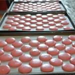 Macarons à la framboises Laisser crouter
