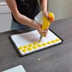 Macarons au citron Travaille à la poche les macarons