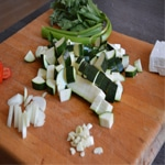 Mise en bouche de courgettes Préparer les légumes