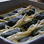 Côtes de bette farcies Ajouter la béchamel