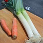 Potage de noix de St Jacques Rincer les légumes