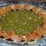 Tate aux prunes et raisin Ajouter les grains de raisin