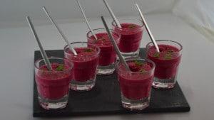 Betterave rouge et crème Terminer