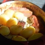 Choucroute royale Ranger les pommes de terre