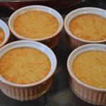 Crèmes brulées aux cerises confites Crème cuites