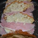Croissants à la mozarella Ajuster la mozzarella