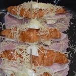 Croissants à la mozarella Saupoudrer de fromage