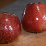 Pommes caramélisées au four Rincer les pommes