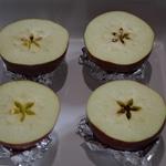 Pommes caramélisées au four Saupoudrer de sucre