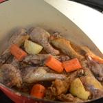Rillettes de canard Colorer la viande