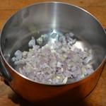 Beurre blanc Saisir le échalotes à sec
