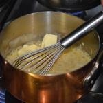 Beurre blanc Fouetter le beurre doit bouillir