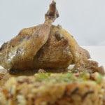 caille farcies aux marrons et foie gras terminer