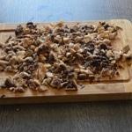 caille farcies aux marrons et foie gras Concasser les maronns