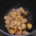caille farcies aux marrons et foie gras Réserver quelques marrons
