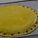 Galette des rois au chocolat et noisettes Dorer avec le jaune d'œuf