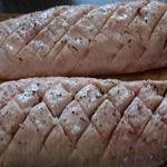 Magret de canard au foie gras Entailler la peau
