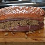 Magret de canard au foie gras Poser l'autre magret
