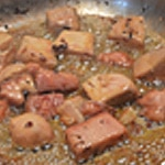 Pâtes fraiches et foie gras Saisir dans la poêle bien chaude
