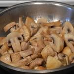 Pâtes fraiche et foie Saisir les champignons