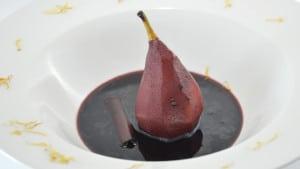 Recette de Poires au vin rouge