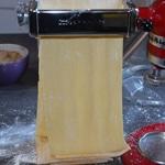 Raviolis au foie gras et cèpes Laminer la pâte