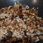 Risotto cèpes et magret Saisir le riz