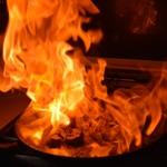 Rognons de veau à l'Armagnac Attention le flambage
