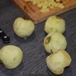 Boudin aux pommes Eplucher les pommes