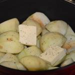 Boudin aux pommes Trancher les pommes