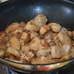 Curry de prc aux champignons Saisir de toutes parts