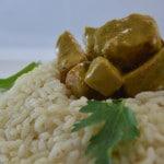 Curry de prc aux champignons Terminer