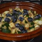 Tajine de poulet aux raisins Ajouter le raisin