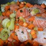 Blanquette de saumon Ajouter le saumon