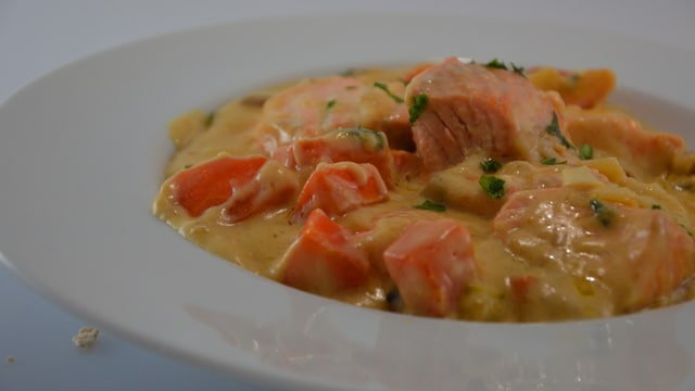 Blanquette de saumon Terminer