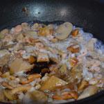 Pâtes Japonaises Ajouter les crevettes