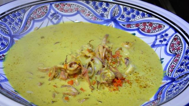 Calamars et curry Terminer