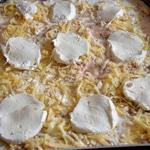 Lasagnes de poulet et jambon Couper la mozzarella