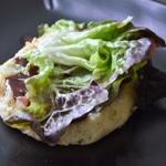 Hamburger maison Poser la viande