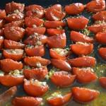 Ratatouille en bocaux Rôtir les tomates