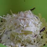 Salade de chou rouge Trancher le chou blanc