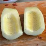 Salade de melon Épépiner le melon