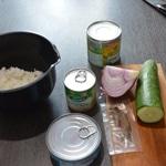 Salade de riz Les ingrédients