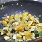 Omelette à la courgette Saisir les courgettes