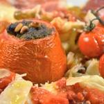 Pâtes maison et tomates farcies Zoom